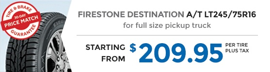 FIRESTONE DESTINATION A/T LT245/75R16
