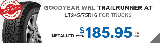 Goodyear WRL Trailrunner AT LT245/75R16 for trucks